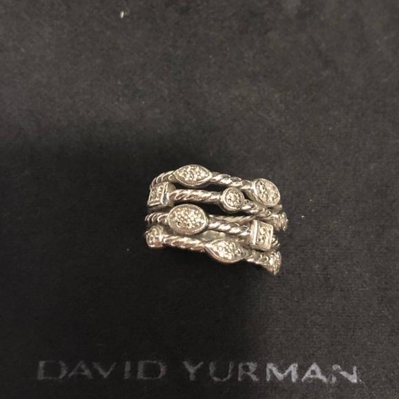 f933e66523611 David Yurman Jewelry - David Yurman Confetti Silver Parve Diamond Ring
